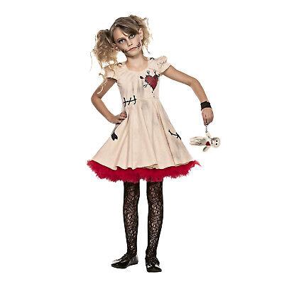 Kids Child Girls Voodoo Doll Halloween Cosplay Costume Dress Voodoo Doll Prop