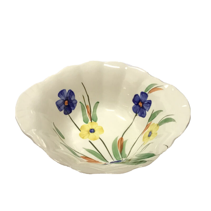 """BLUE RIDGE SOUTHERN POTTERIES CHICKAREE LUGGED SOUP CEREAL BOWL DISH 7""""x6"""""""