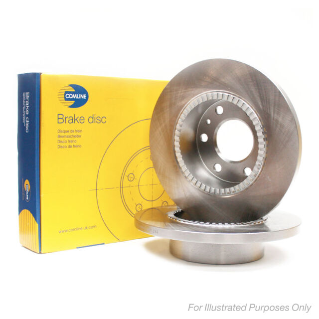 Comline Rear Brake Discs Pair Genuine OE Quality Service Replacement