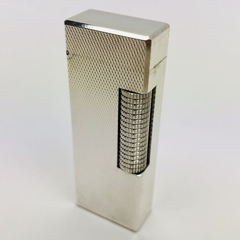 Vintage Silver Plated Alfred Dunhill Rollalite Switzerland