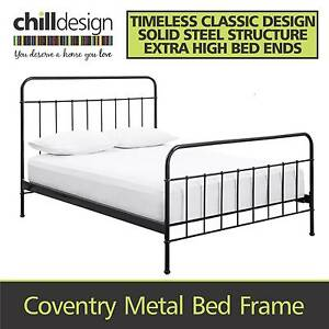 METAL BLACK OR WHITE SINGLE DOUBLE QUEEN WROUGHT IRON BED FRAME Brisbane City Brisbane North West Preview