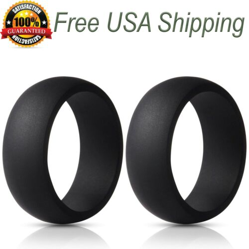 SILICONE WEDDING RING Men Rubber Band by LiveLife BOGO ~ Pick 2 Colors