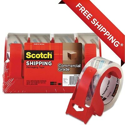 Scotch Commercial Grade Packaging Tape Wdispenser 1.88x54.6yds Clear 4pack