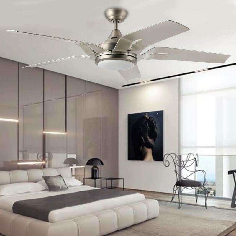 56 indoor ceiling fan brushed nickel led