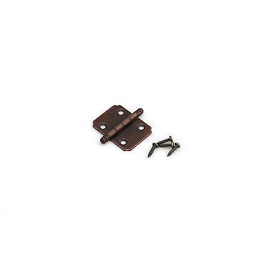 Antique Style Jewelry Cigar Box Decorative Small Mini Walnut 1 Inch Hinge -HG025