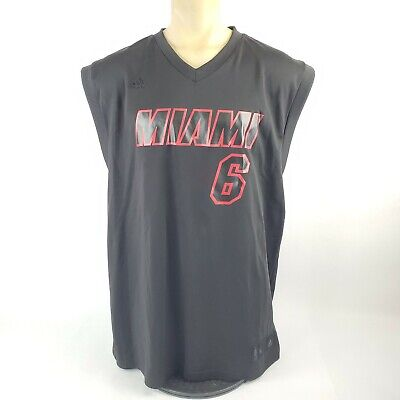 LeBron James Miami Heat Blackout Adidas NBA Jersey Size Men Extra Large (XL) #6