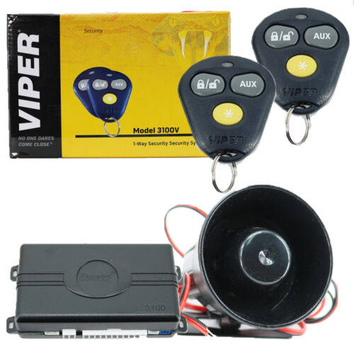 Viper 3100V 1-Way Security System Keyless Entry Car Alarm System NEW