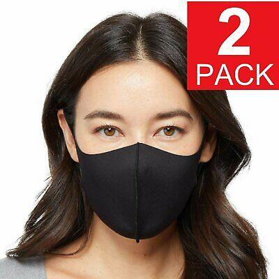2-Pack Black Adult Face Mask – Reusable Washable Unisex Accessories