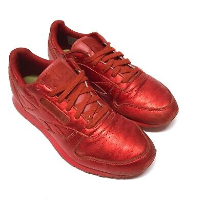 REEBOK X Face Stockholm Women's Size 8.5 Metallic Red Leather Classic Shoe