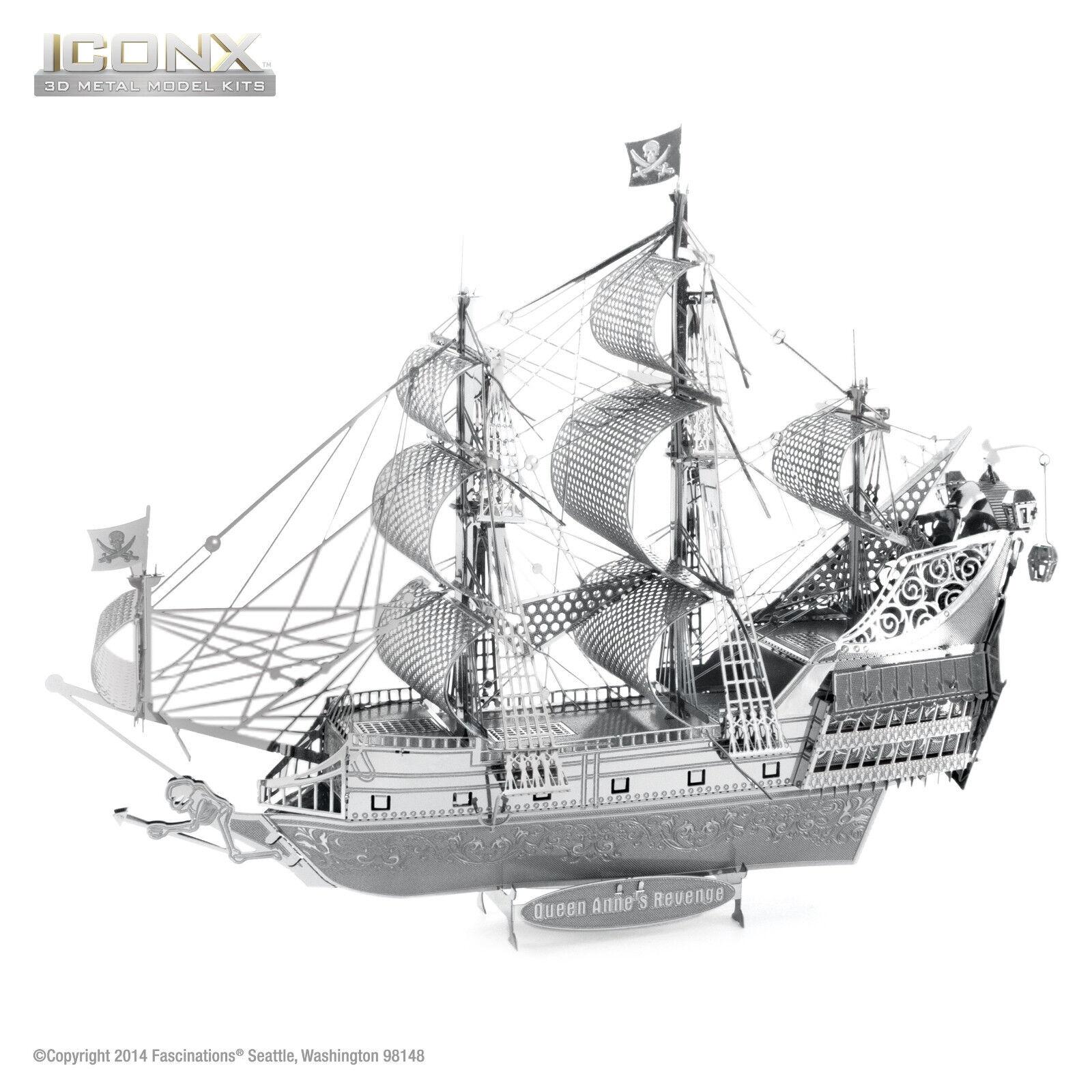 Fascinations ICONX Queen Anne Revenge Ship 3D Metal Earth La