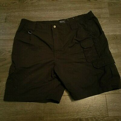 5.11 TACTICAL SERIES Cargo Shorts Mens size 42 Black Shooting 8