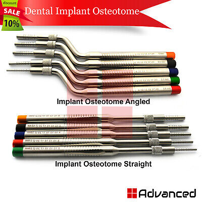 Surgical Implant Sinus Osteotome Offset Concave Tips Implantology Procedures Kit