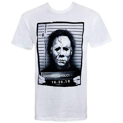 Halloween Mike Myers Mug Shot Tshirt White