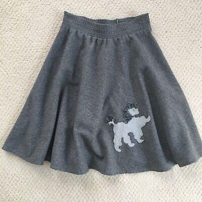 Vintage Poodle Skirt (Vintage Gray Poodle Skirt XS)