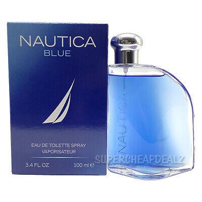 Nautica Blue for Men 3.4 oz Eau de Toilette Spray NIB Sealed AUTHENTIC