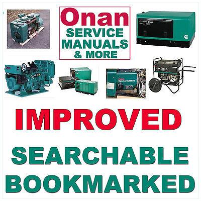 Onan Hdkaj Genset Service Kubota Engine Manual Parts Owners -5- Manuals Cd