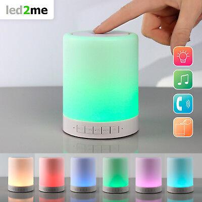 LED Bluetooth Lautsprecher mit RGB Farbwechsel Tischlampe Micro SD LED Lampe ()