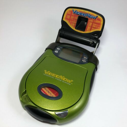 2003 Hasbro Green VIDEO NOW w/ Light + Spongebob DVD Personal Player Toy Lot VTG
