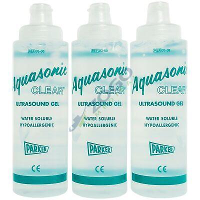 Aquasonic Clear Ultrasound Gel - 8.5 Oz Bottle - Pack Of 3