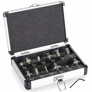 VonHaus 12pc Router Bits Set Tungsten Carbide 6.5mm 1/4