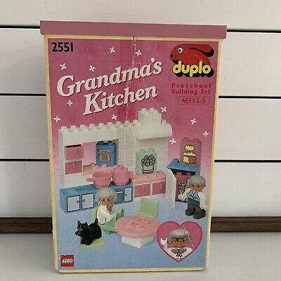 Vintage 1992 Lego Duplo Dollhouse Grandmas Kitchen 2551 Toy Building Set w/ Box
