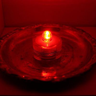 10 Pack~Red~Submersible Waterproof Underwater Battery LED Tea Light~Wedding