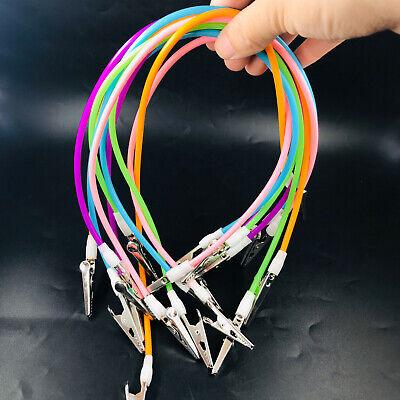 10pcs Dental Bib Clips Cord Flexible Tubes Napkin Holder Silicone Muliticolor