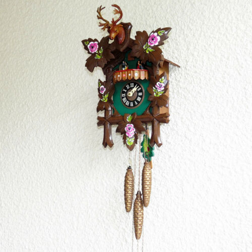 "MUSICAL 1 DAY CUCKOO CLOCK 15"" x 11"" GERMANY"