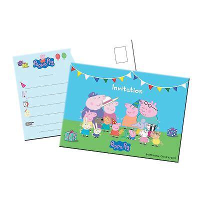 stag & Party - Peppa Wutz Einladungskarten, 8 Stk. (Peppa Einladungen)