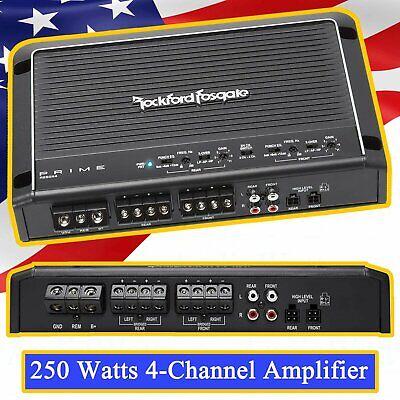 Rockford Fosgate Prime R250X4 250 Watts 4-Channel Amplifier Class AB Bridgeable