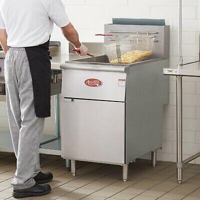 70 - 100 Lb Commercial Restaurant Natural Gas Stainless Steel Floor Deep Fryer