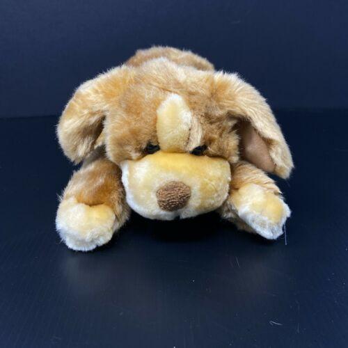 "Animal Alley Tan Darby Puppy Dog Plush Silky 8"" Stuffed Hound Lovey Toys R Us"