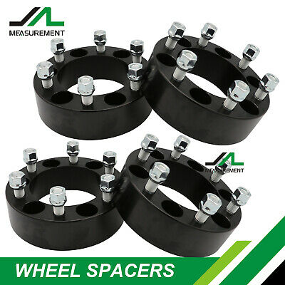 "4x 2"" Black Wheel Spacers Adapters 6x5.5 for Chevy Silverado 1500 Tahoe Suburban"