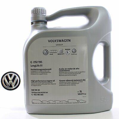 Original VW Skoda Motoröl 5W30 50400 50700 LongLife III 1L/7€ G052195M4 5