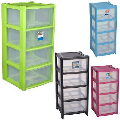 4 Regal Kunststoff-regal (Schubladenregal Schubladen 39x85cm Box Kunststoff Regal 4 Kisten Stapelregal)