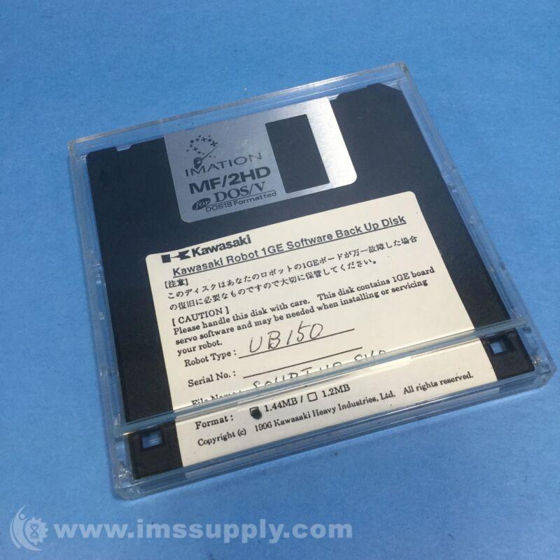 Kawasaki SOHBJWOSVO 1GE Software Back Up Disk, UB150 Robot USIP