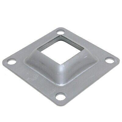 4 X 4 Flange Square Base Plate Steel Bracket For 1-12 Metal Posts Skirt 4pcs