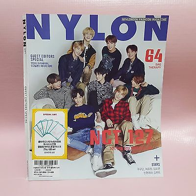 NCT 127 MAGAZINE CLIPPINGS April 2017 NYLON Korea Cutting 10 Pages + COVER