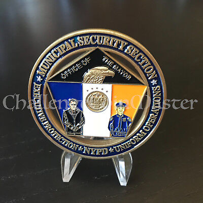 C28 New York MUNICIPAL Security Executive Protection CHALLENGE COIN Police