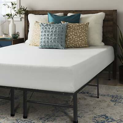10 Inch Memory Foam Mattress with Bed Frame Set - -