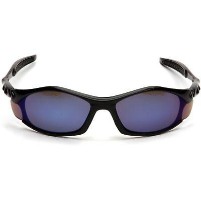 Pyramex Solara Safety Glasses with Blue Mirror Lens, Black (Solara Glasses)