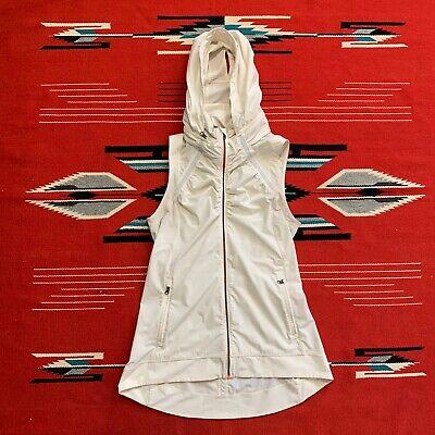 Lululemon Womens Ivory Running Athletic Hooded Vest Size 6