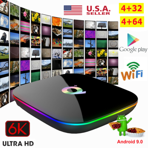 2020 Q Plus TV Box Android 9.0 4G+32/64G 6K H.265 4-Core Med