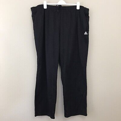 adidas Men's Fleece Pant 4XL Team Issue Black Pockets Sweat Pants Insulated New