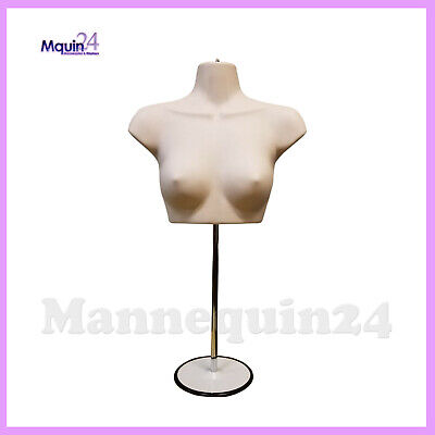 Female Torso Mannequin Stand Hanger - Flesh Women Chest Dress Form