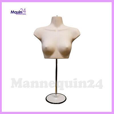 Female Torso Mannequin Stand Hanger - Flesh Women Chest Dress Form