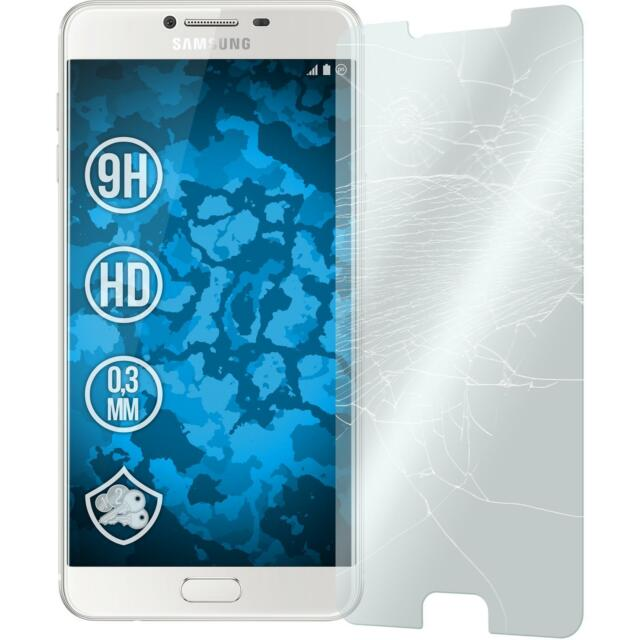 2 x Samsung Galaxy C7 Protection Film Tempered Glass clear