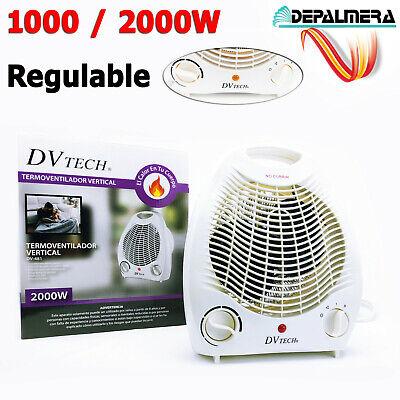 Calefactor eléctrico Baño 1000/2000W Radiador de aire Regulable Estufa Vertical