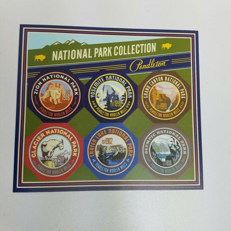 Pendleton National Park Badge Sticker Set Yosemite Glacier Grand Canyon Zion NEW