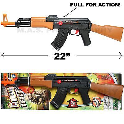 AK-47 TOY ASSAULT RIFLE KID BOY MACHINE GUN SOUND MILITARY ARMY CAR-15 M-16 - Toy Rifles